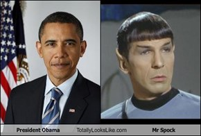 President Obama Totally Looks Like Mr Spock
