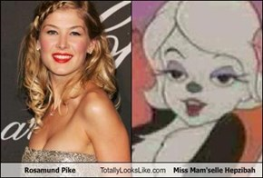 Rosamund Pike Totally Looks Like Miss Mam'selle Hepzibah