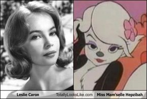 Leslie Caron Totally Looks Like Miss Mam'selle Hepzibah