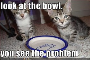 look at the bowl.  you see the problem