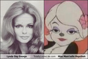Lynda Day George Totally Looks Like Miss Mam'selle Hepzibah