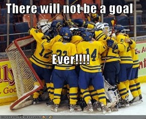 There will not be a goal  Ever!!!!