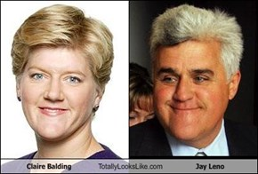 Claire Balding Totally Looks Like Jay Leno