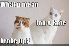 What u mean Jon & Kate broke up?