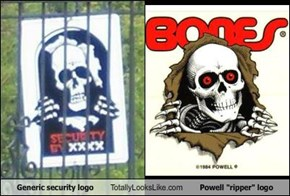 "Generic security logo Totally Looks Like Powell ""ripper"" logo"