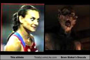 This athlete Totally Looks Like Bram Stoker's Dracula
