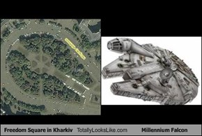 Freedom Square in Kharkiv Totally Looks Like Millennium Falcon