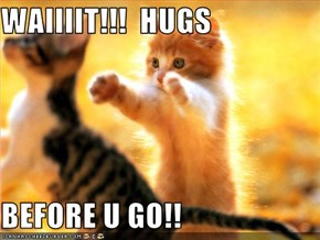 WAIIIIT!!!  HUGS  BEFORE U GO!!