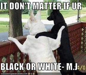 IT DON'T MATTER IF UR  BLACK OR WHITE- M.J