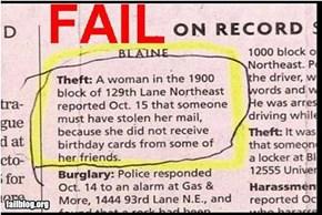 Theft Fail