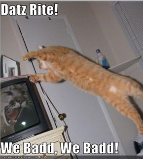 Datz Rite!  We Badd, We Badd!