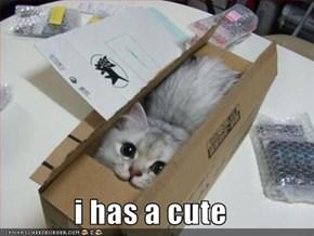 i has a cute