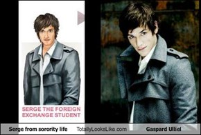 Serge from sorority life Totally Looks Like Gaspard Ulliel
