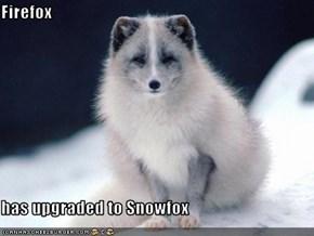 Firefox  has upgraded to Snowfox