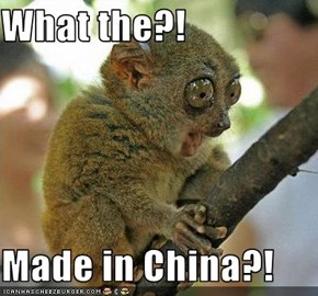 What the?!  Made in China?!