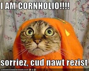 I AM CORNHOLIO!!!!  sorriez, cud nawt rezist