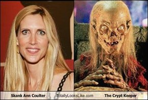 Skank Ann Coulter Totally Looks Like The Crypt Keeper