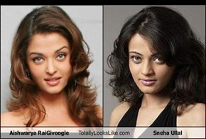 Aishwarya RaiGivoogle Totally Looks Like Sneha Ullal