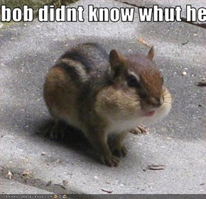 bob didnt know whut he just ate