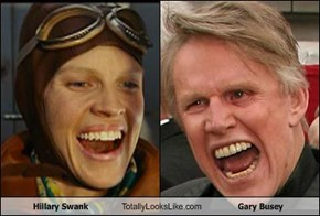 Hillary Swank Totally Looks Like Gary Busey