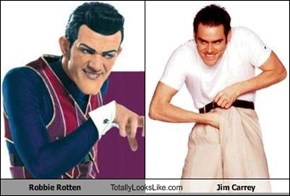 Robbie Rotten Totally Looks Like Jim Carrey