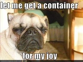 let me get a container   for my joy