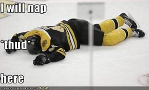 I will nap *thud* here