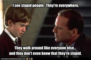 Stupid People.
