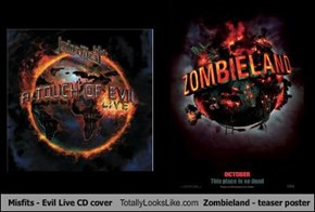 Misfits - Evil Live CD cover Totally Looks Like Zombieland - teaser poster