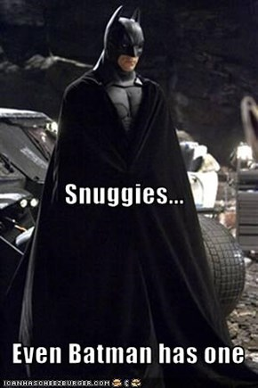 Snuggies...   Even Batman has one