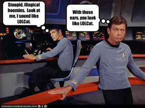 Stoopid, illogical hoomins.  Look at me, I sound like LOLCat.