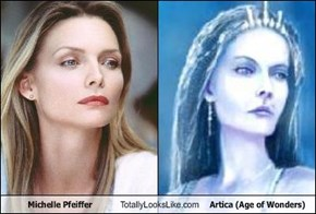 Michelle Pfeiffer Totally Looks Like Artica (Age of Wonders)