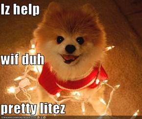 Iz help wif duh pretty litez