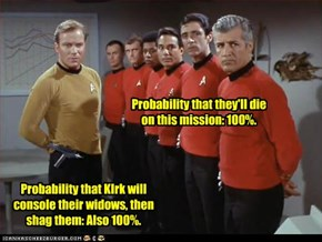 Probability that they'll die on this mission: 100%.