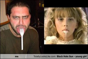 me Totally Looks Like Black Hole Sun - young girl