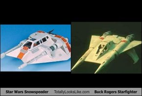 Star Wars Snowspeeder Totally Looks Like Buck Rogers Starfighter