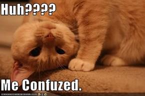 Huh????  Me Confuzed.