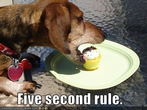 Five second rule.