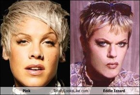 Pink Totally Looks Like Eddie Izzard