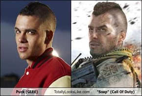 "Puck (GLEE) Totally Looks Like ""Soap"" (Call Of Duty)"