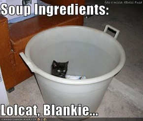 Soup Ingredients:  Lolcat, Blankie...