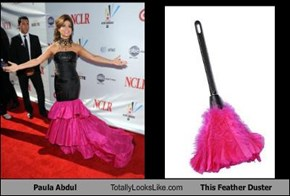 Paula Abdul Totally Looks Like This Feather Duster