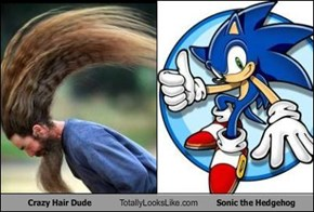 Crazy Hair Dude Totally Looks Like Sonic the Hedgehog