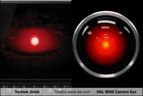 Verizon Droid Totally Looks Like HAL 9000 Camera Eye