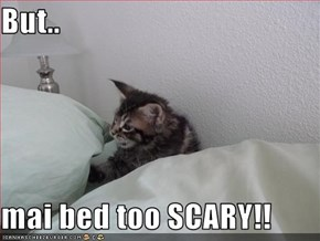 But..  mai bed too SCARY!!