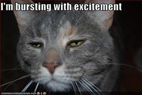 I'm bursting with excitement