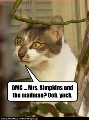 OMG ... Mrs. Simpkins and the mailman? Ooh, yuck.