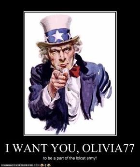 I WANT YOU, OLIVIA77
