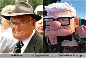 AARP Man Totally Looks Like The Old Man From Up