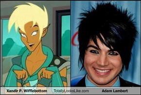 Xandir P. Wifflebottom Totally Looks Like Adam Lambert